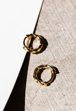 I Got You Babe Warped Hoop Earrings - Gold