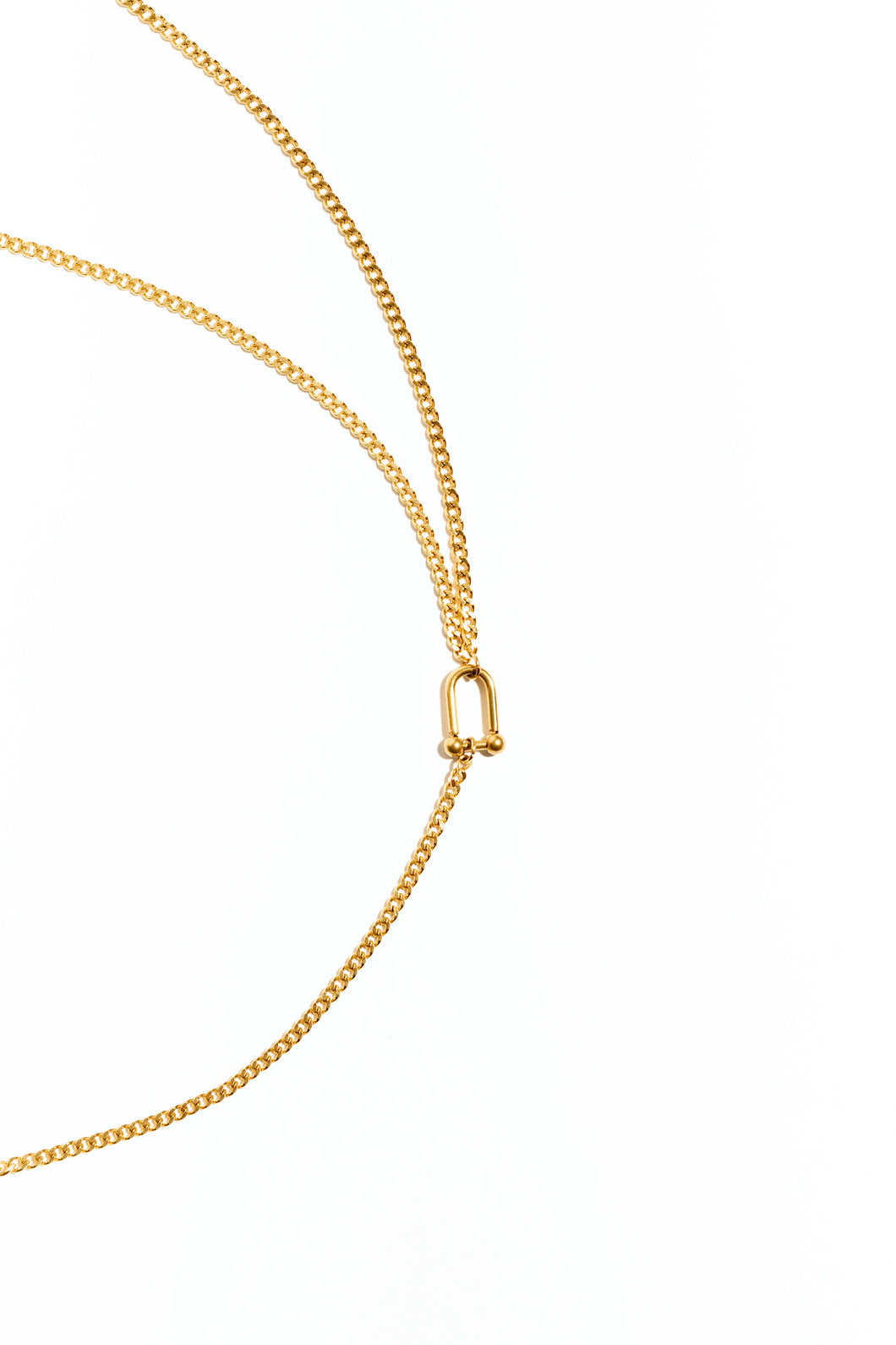 Lovestruck Mixed Chain W Toggle Necklace - Gold