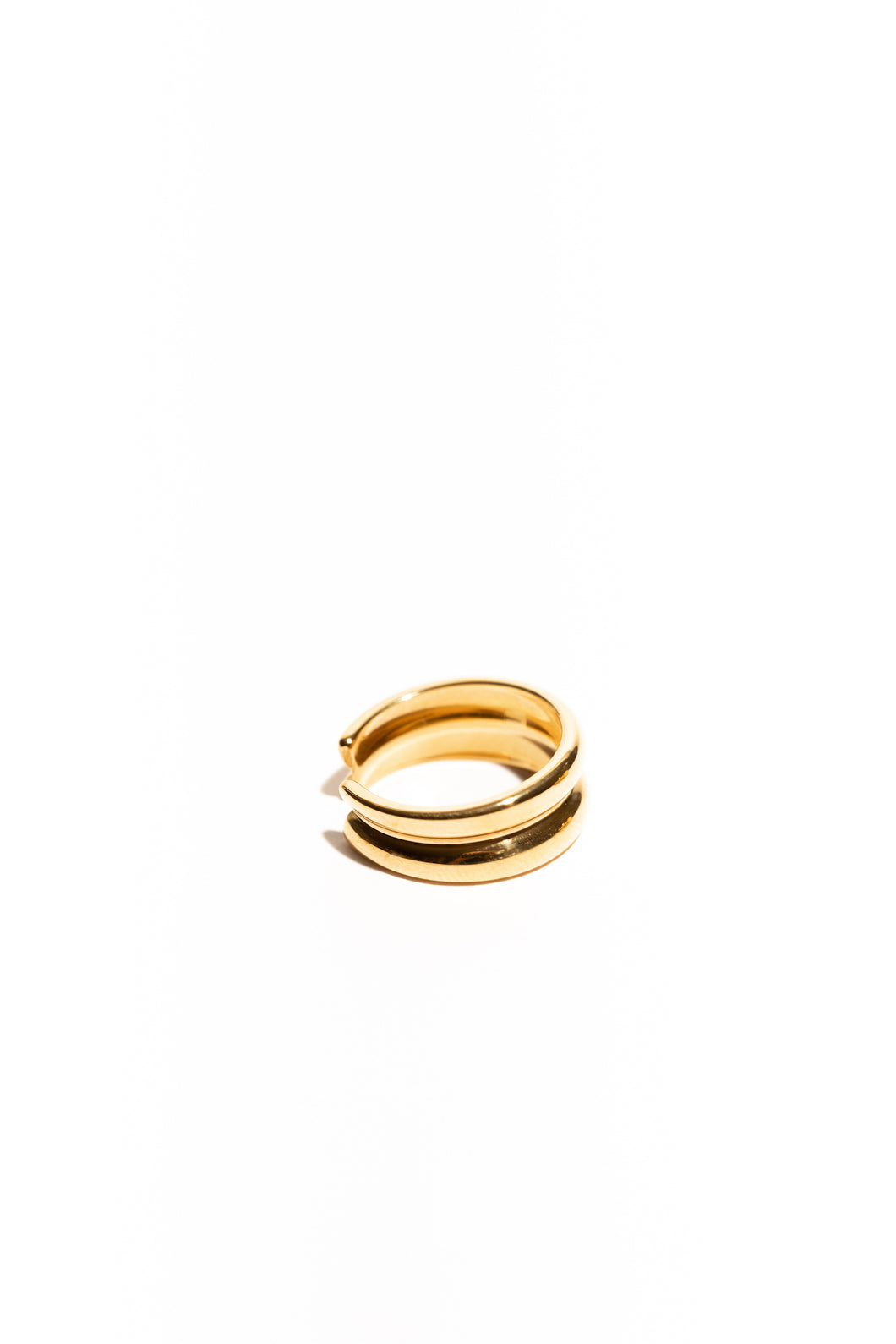 Make A Wish Thin Double Stack Ring - Gold