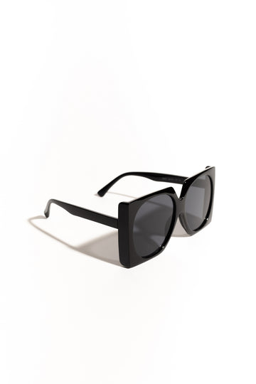 Meredith Square Frame Sunglasses - Black