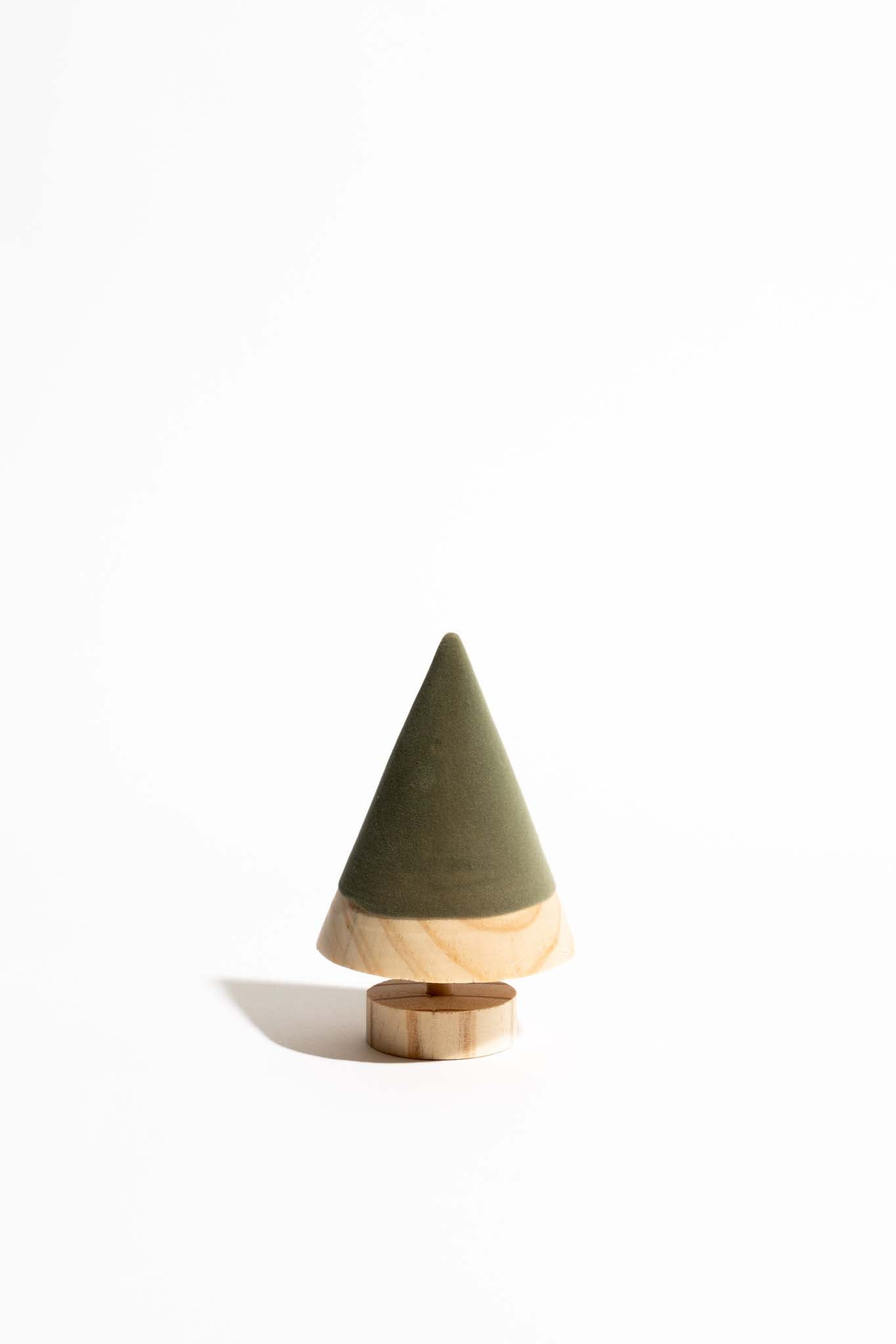 Favorite Things Flocked Wood Tree on Base -  3 Colors
