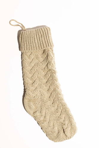 Winter Wonder Knit Stocking - Khaki