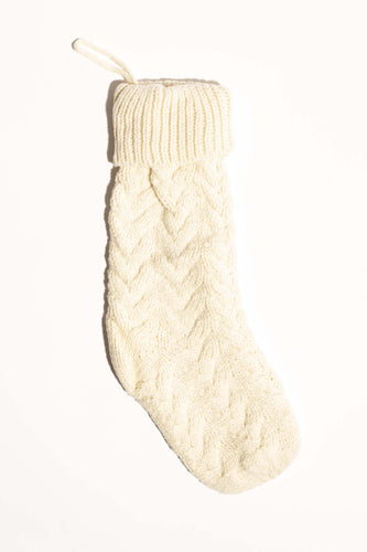 Winter Wonder Knit Stocking - Cream