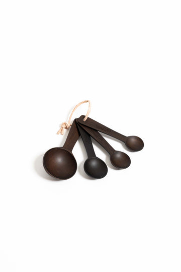 Spoonful of Sugar Ebony Teak Measuring Spoons - Set of 4