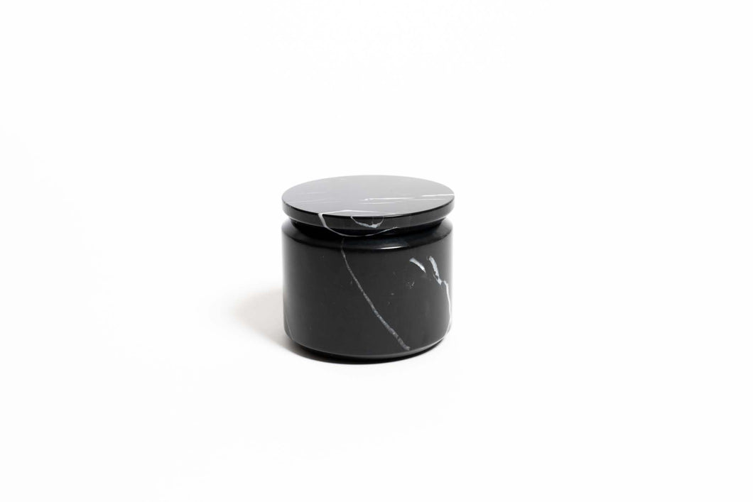 Prisma Marble Storage Box w Lid - Black