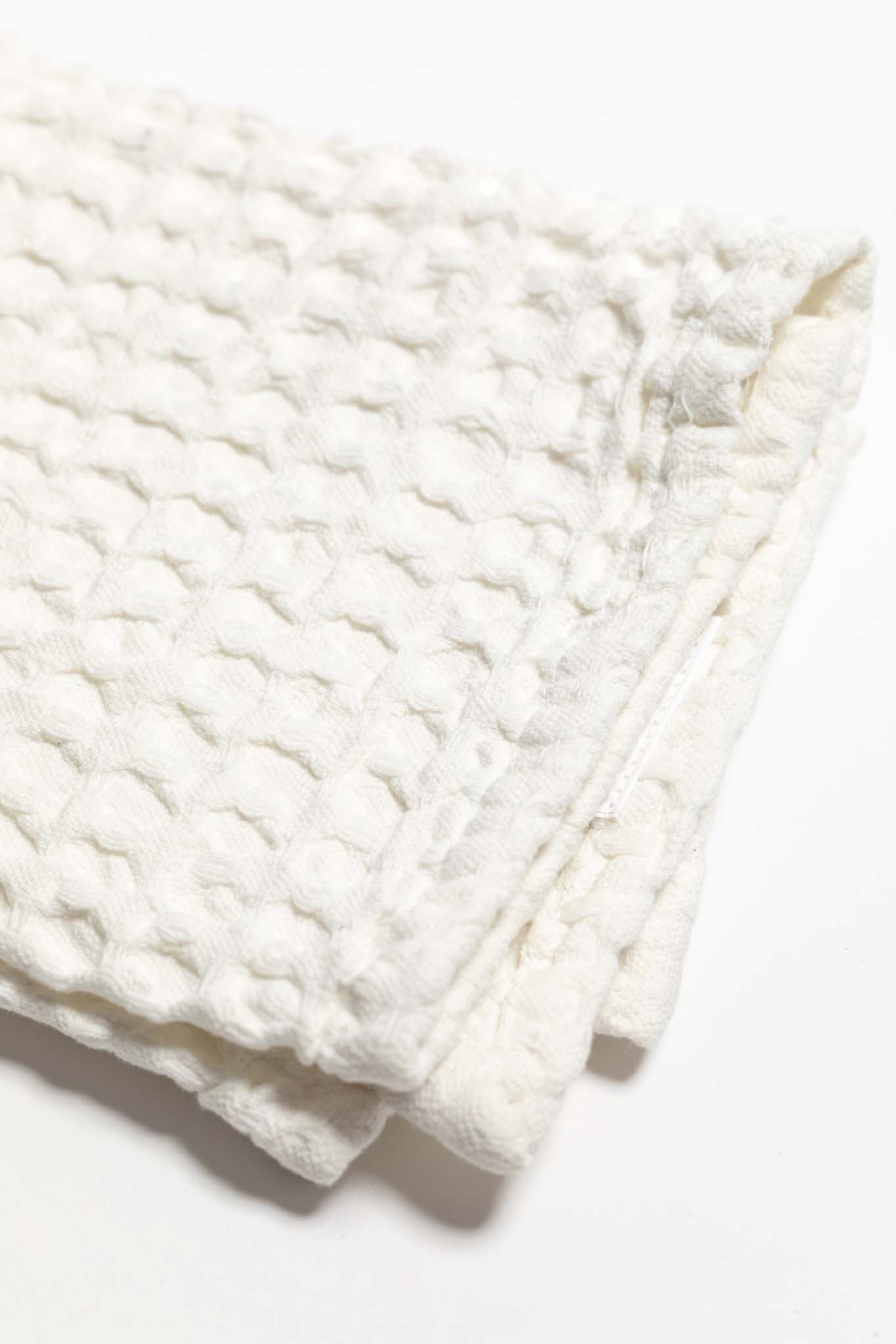 Daily Waffle Weave Tea Towel - Bleached White