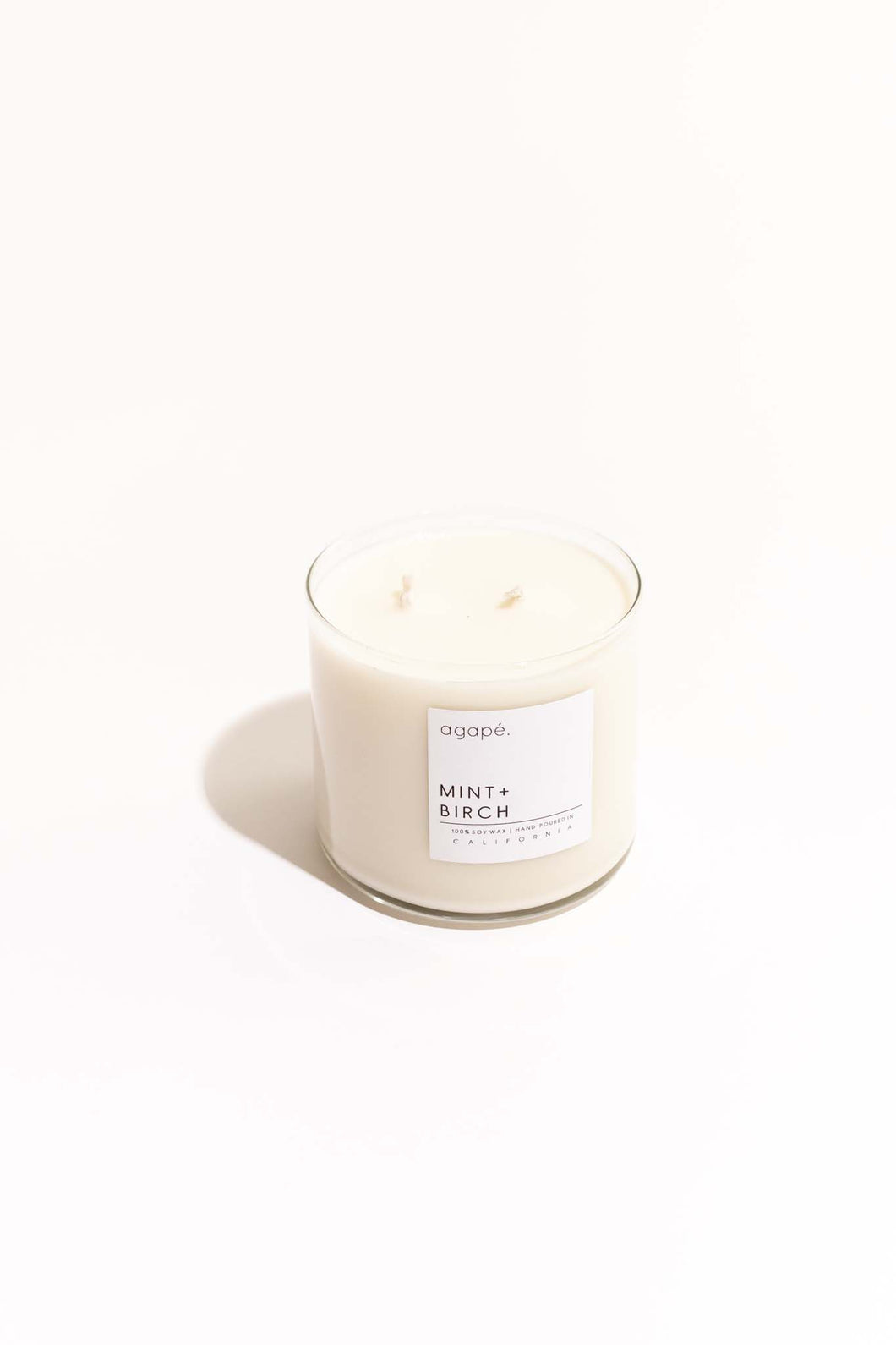 Mint + Birch Double Wick Candle - 18 oz
