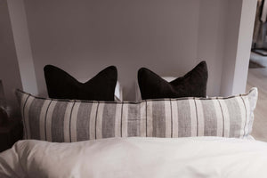 Finale Body Pillow - Grey + Charcoal
