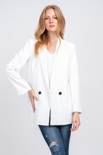 Moonstone Double Breasted Boyfriend Blazer