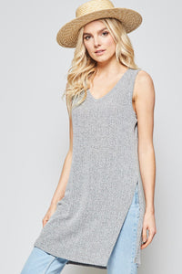 Tunic T Top with Side Slits