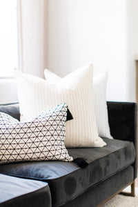 Brittany Pillow - Ivory/Black