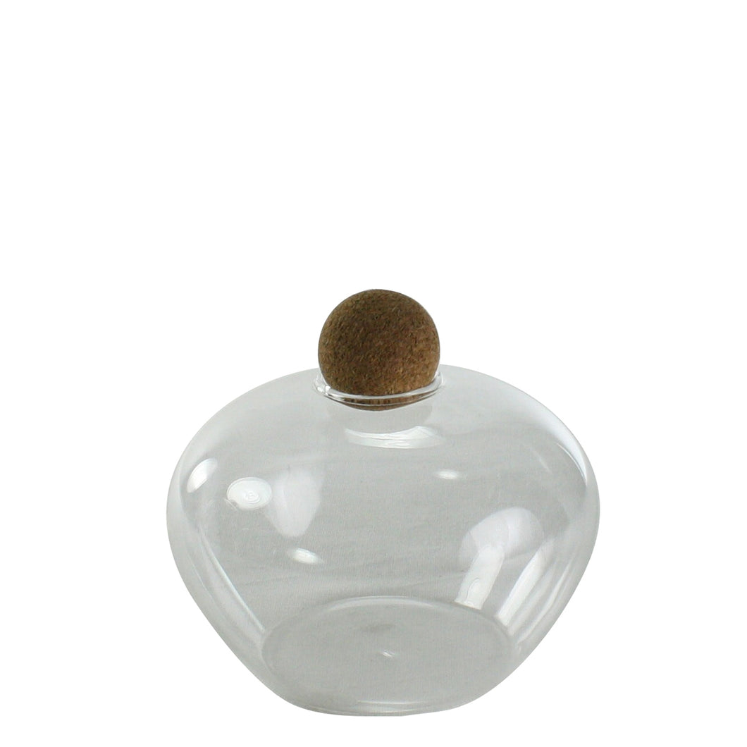 Sable Glass Jars with Cork Ball Stopper