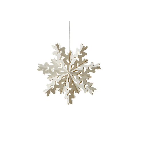 Tinsel Snowflake Ornament - Small