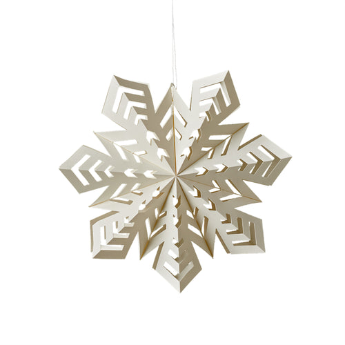 Arctic Snowflake Ornament - Medium