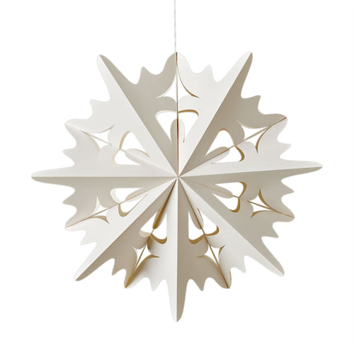 Powder Snowflake Ornament - Large