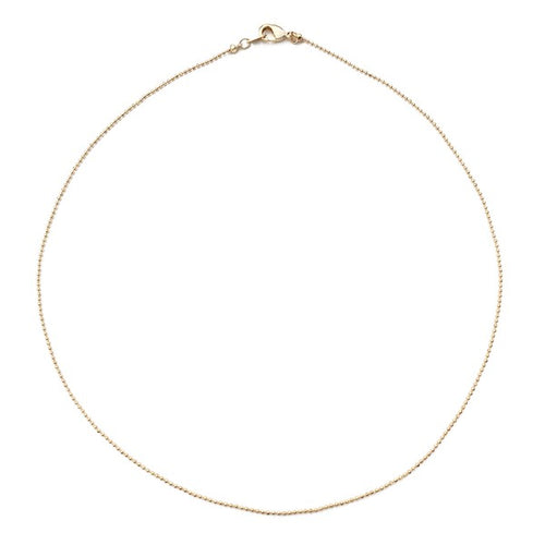 Lily Ball Chain Choker Necklace - Gold