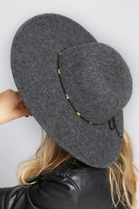 Vail Soft Wool Wide Brim Hat- Grey