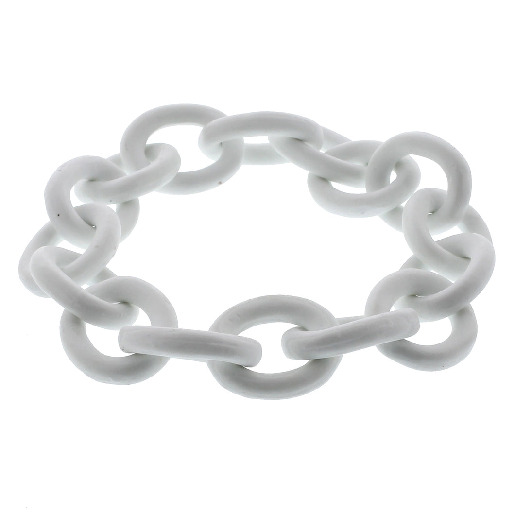 Ceramic Matte White Chain
