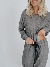 Load and play video in Gallery viewer, Start Fresh Sweatshirt + Jogger Set - Charcoal