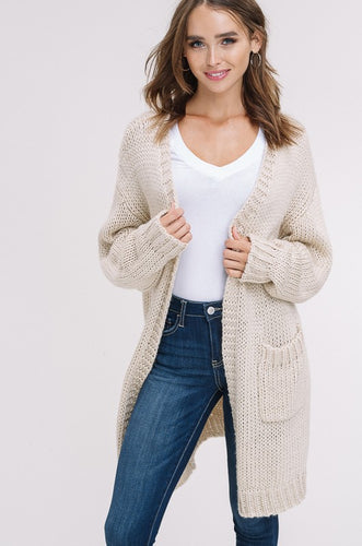 Super Chunky Knit Open Cardigan