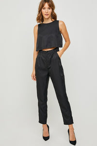 Cut-Out Sleeveless Trouser Jumper - Black