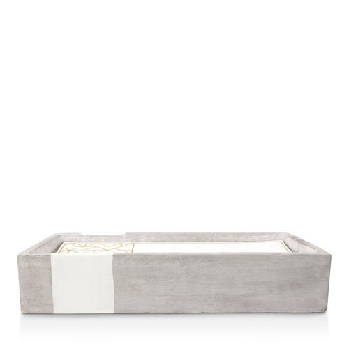 Urban Concrete Rectangle White Tobacco & Patchouli Candle - 30 oz