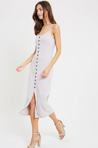 Lily Rose Button Down Cami Midi Dress