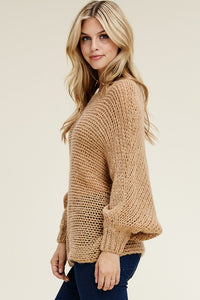 Milo Dolman Sleeve Relaxed Pullover - Nude
