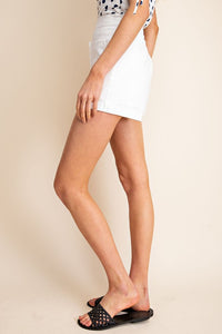 Ruby Frayed Pocket High Waist Shorts