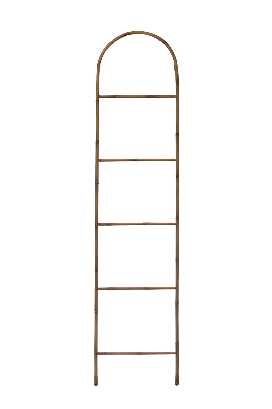 Imogen Metal Ladder with Arched Top + Bamboo Finish
