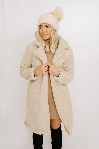 Kendra Shearling Coat - Oatmeal