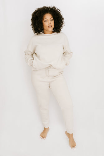 Snowed In Sweatshirt + Pant Set - Ivory