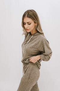 Favorite Place Hoodie + Jogger Set - Taupe
