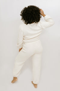 Cold Outside Long Sleeve + Jogger Set - Ivory