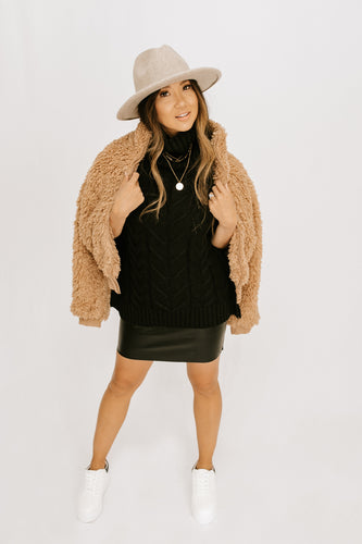 Frosty Furry Zip Jacket - Camel