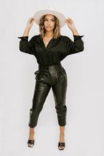 Carol Faux Leather Pant - Black