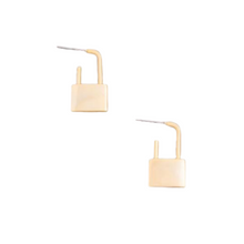 Jessa Lock Drop Earring - Gold