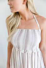 Rosé All Day Nude Striped Maxi Dress