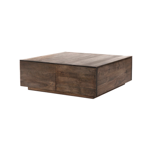 Samantha Storage Coffee Table - Aged Brown