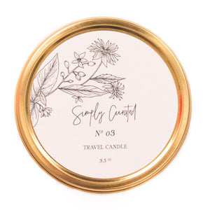 Botanical Collection No. 03 Soy Candle - Travel size 3.5 oz