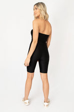 Love Letter Cut Out Biker Bodysuit - Black