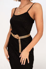 Bottle Service Tonal Leopard Print Slip Dress - Black
