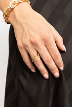 Marla Metallic Chain Link Band Rings Set - Gold