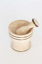 Edith Wooden Mortar & Pestal
