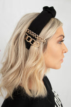 Collins Fabric Top Knot Headband - Black
