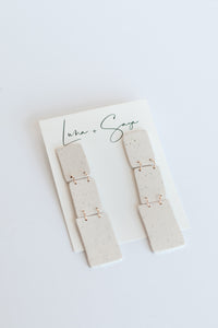 Marbella 3 Layer Post Drop Earrings - Sand + Speckles - Luna & Saya