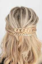 Armie Thin Flat Chain Link Hair Clip - Gold