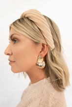 Fantasy Hammered Double Disc Earring - Gold