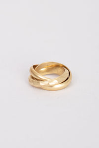 Infinity Interlinked 3 Piece Band Ring Set - Gold