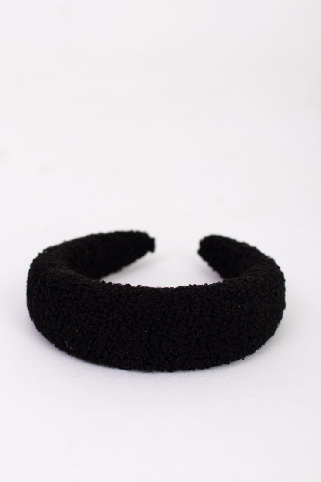 Greer Fuzzy Sherpa Headband - Black